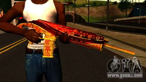 New Year's Eve Assault Rifle for GTA San Andreas third screenshot