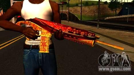 New Year's Eve Assault Rifle for GTA San Andreas third screenshot