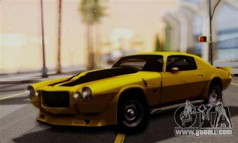 Chevrolet Camaro Mk.II for GTA San Andreas