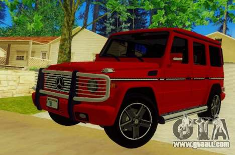 Mercedes-Benz G500 for GTA San Andreas back left view