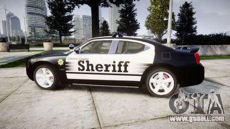 Dodge Charger SRT8 2010 Sheriff [ELS] rambar for GTA 4 left view