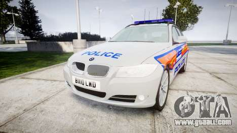 BMW 325d E91 2010 Metropolitan Police [ELS] for GTA 4