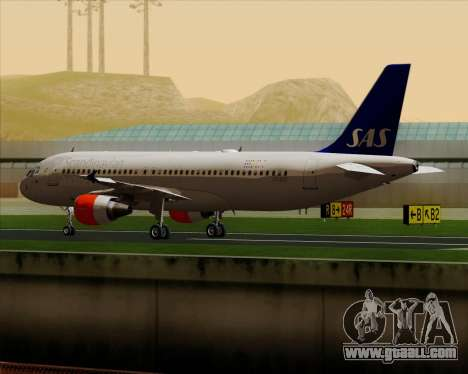 Airbus A320-200 Scandinavian Airlines - SAS for GTA San Andreas