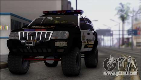 Jeep Grand Cherokee 1999 Sheriff for GTA San Andreas right view