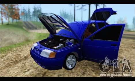 VAZ 2112 for GTA San Andreas inner view