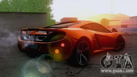 McLaren MP4-12C Gawai v1.5 for GTA San Andreas left view