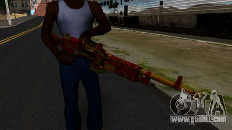 Christmas Minigun for GTA San Andreas third screenshot