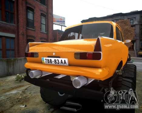 Moskvich 412 Monster for GTA 4 back view