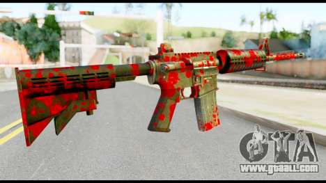 M4 with Blood for GTA San Andreas second screenshot