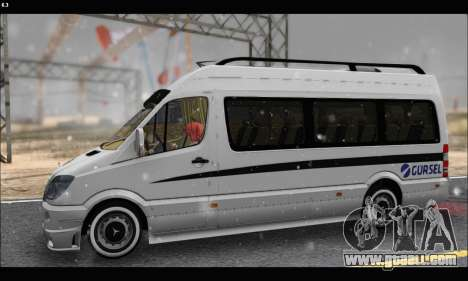 Mercedes Benz Sprinter Okul Tasiti V2 for GTA San Andreas left view