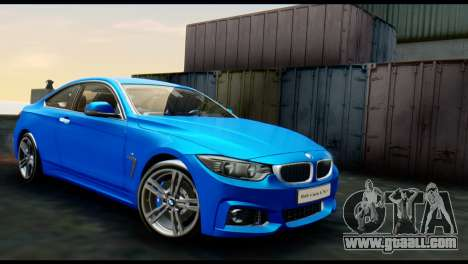 BMW 4-Series Coupe M Sport 2014 for GTA San Andreas