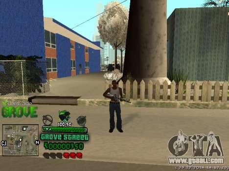 C-HUD Grove Street for GTA San Andreas