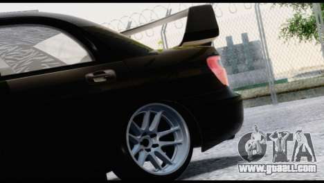 Subaru Impreza Hellaflush 2004 for GTA San Andreas back view