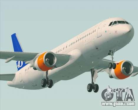 Airbus A320-200 Scandinavian Airlines - SAS for GTA San Andreas wheels