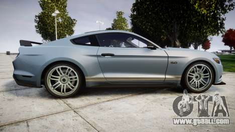 Ford Mustang GT 2015 Custom Kit gray stripes for GTA 4 left view