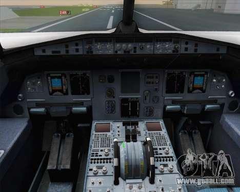 Airbus A320-200 Air France Skyteam Livery for GTA San Andreas interior