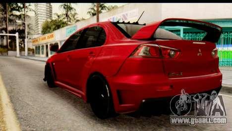 Mitsubishi Lancer Evolution FQ-400 V2 for GTA San Andreas left view