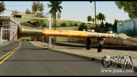 RPG7 from Metal Gear Solid for GTA San Andreas second screenshot