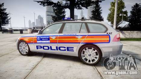 BMW 325d E91 2010 Metropolitan Police [ELS] for GTA 4 left view