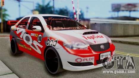 Toyota Vios TRD Racing v2 for GTA San Andreas