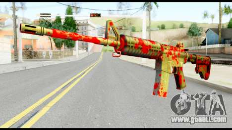 M4 with Blood for GTA San Andreas