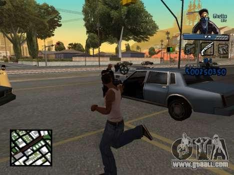 C-HUD Unique Ghetto for GTA San Andreas forth screenshot