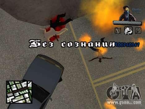 C-HUD Unique Ghetto for GTA San Andreas seventh screenshot