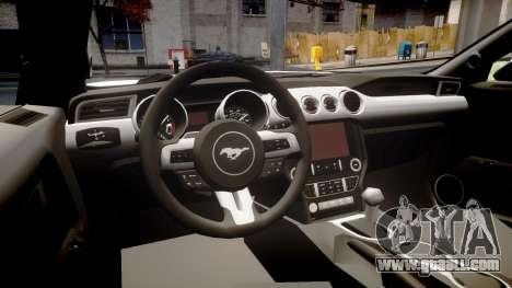 Ford Mustang GT 2015 Custom Kit gray stripes for GTA 4 inner view