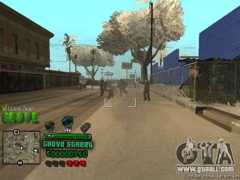 C-HUD Grove Street for GTA San Andreas sixth screenshot