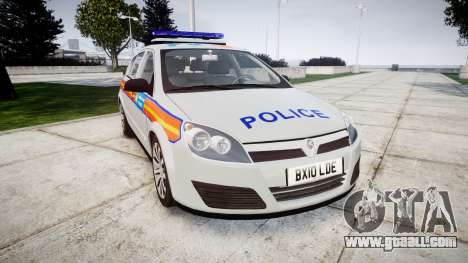 Vauxhall Astra 2010 Police [ELS] Whelen Liberty for GTA 4
