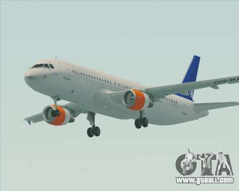 Airbus A320-200 Scandinavian Airlines - SAS for GTA San Andreas left view
