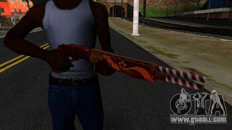 Christmas Combat Shotgun for GTA San Andreas third screenshot