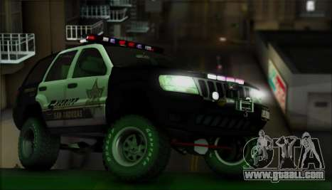Jeep Grand Cherokee 1999 Sheriff for GTA San Andreas upper view