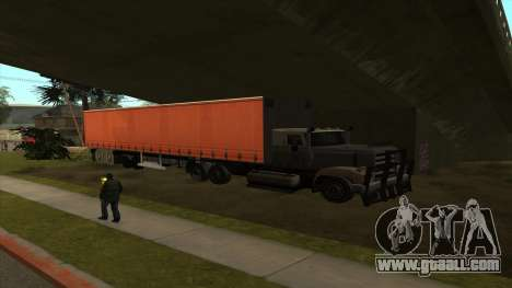 Transport tank trailer for GTA San Andreas