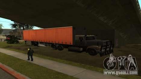 Transport tank trailer for GTA San Andreas third screenshot