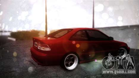Honda Civic for GTA San Andreas back left view