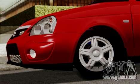 Lada Priora Sport for GTA San Andreas inner view