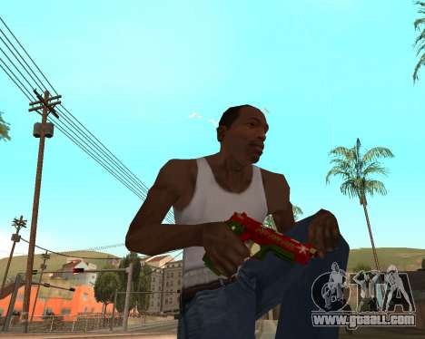 New year's weapon pack v2 for GTA San Andreas sixth screenshot