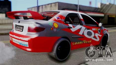 Toyota Vios TRD Racing v2 for GTA San Andreas left view