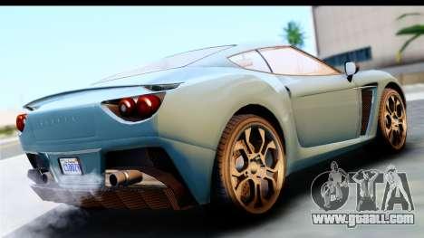 GTA 5 Grotti Carbonizzare v3 (IVF) for GTA San Andreas left view