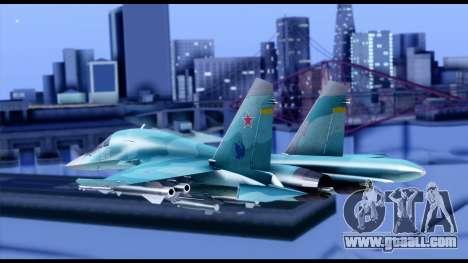 SU-34 Fullback for GTA San Andreas left view