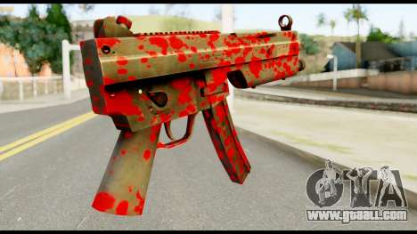 MP5 with Blood for GTA San Andreas second screenshot