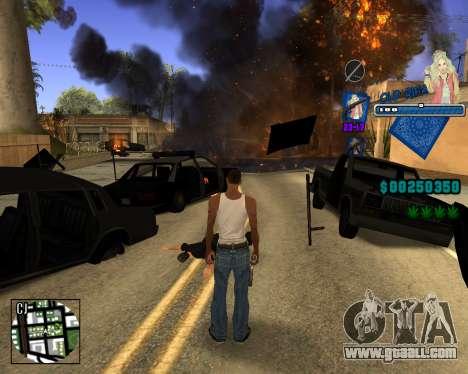 C-HUD Old Rifa for GTA San Andreas forth screenshot