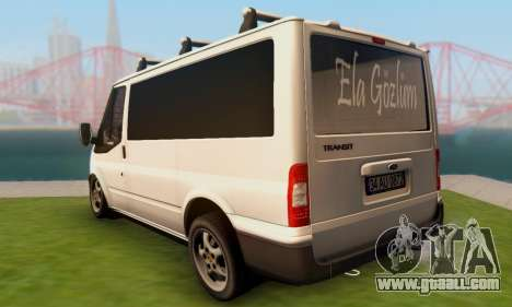 Ford Transit Air for GTA San Andreas back left view