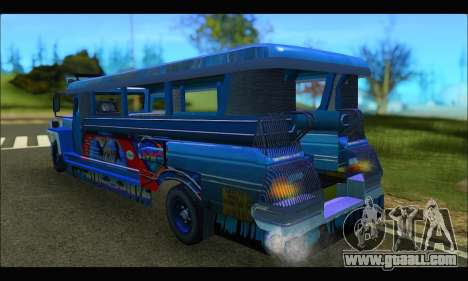 Jeepney Morales for GTA San Andreas back left view