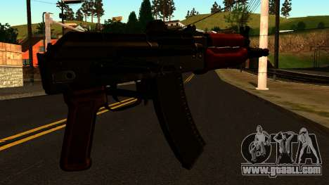 Dark AKS-74U v2 for GTA San Andreas second screenshot