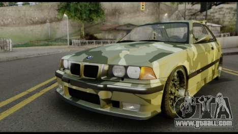 BMW M3 E36 Camo Drift for GTA San Andreas