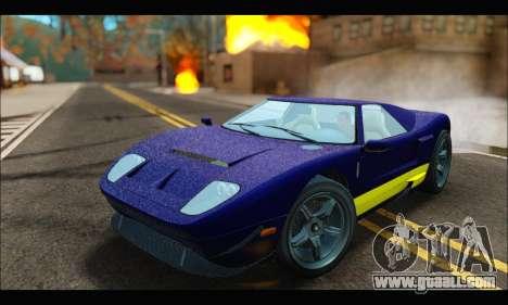 Vapid Bullet Gt (GTA IV) (LC Plate) for GTA San Andreas