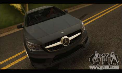 Mercedes Benz CLA 250 2014 for GTA San Andreas back view