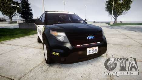 Ford Explorer 2013 County Sheriff [ELS] for GTA 4